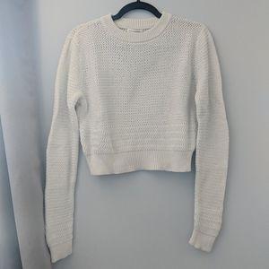 Bright White Cotton Pullover from Club Monaco